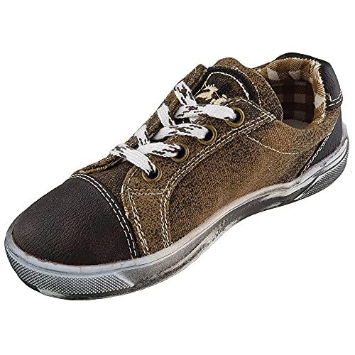 Maddox Kinder Sneaker Nepomuk holz antik (28, Holz Antik)