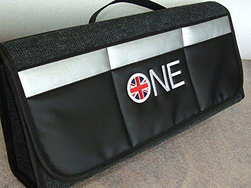 Kofferraum-Organisator passend für alle Cooper-Modelle, hält den Kofferraum sauber und ordentlich, Set mit 2 Ölwechselerinnerungsaufklebern