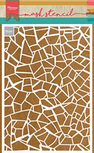 Marianne Design Plantilla de Máscara, azulejos rotos , para Scrapbooking, Crear Tarjetas y Otras Manualidades con Papel