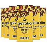 Gevalia Traditional Roast Mild Light Roast Ground Coffee (12 oz Bag, Pack of 6)