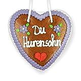 Lebkuchenherz 14cm - Du Hurensohn | Lustige Scherz Ideen | Witzige Geschenke für Party |...