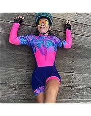Triathlon Women's Fietsen Jersey Lange Mouwen Sportkleding Professionele Team Mountain Bike Draag Jumpsuit (Color : 111, Size : Small)