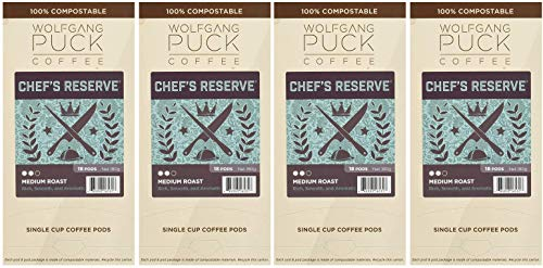 Wolfgang Puck Chef's Reserve, Medium Roast, 18 Count (Fоur Paсk)