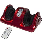 Best Choice Products Therapeutic Kneading and Rolling Shiatsu Foot Massager for Foot, Ankle, Nerve Pain w/ High Intensity Rollers, Remote Control, 4 Programs, 3 Massage Modes - Red
