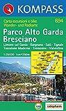 Carta escursionistica n. 694. Lago di Garda. Parco Alto Garda bresciano. Adatto a GPS. Digital map. DVD-ROM