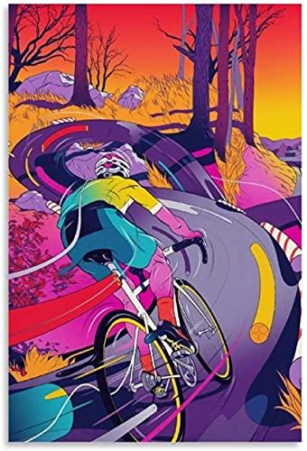 Diy 5d Diamante Pintura Kits Ilustración colorida de la bicicleta en la oficina moderna de la lona Diamond Painting Completo Bordado Punto De Cruz Craft 7.8'x11.8'(20x30cm) Sin Marco