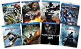 Ultimate Action & Adventure 8-Movie Blu-ray 3D Collection: Amazing Spider-Man/ Wrath of the Titans/ Hercules/ Into Darkness/ Terminator Genisys/ TMNT