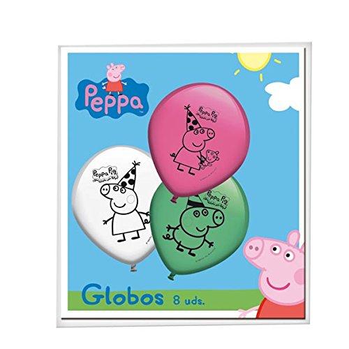 Peppa Pig - 8 globos (Verbetena 016000778)