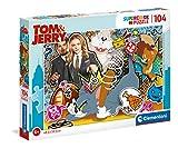 Clementoni- Tom et Jerry - Puzle Infantil (104 Piezas), Fabricado en Italia, a Partir de 6 años (27515)