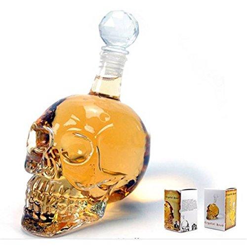 SOLMORE 125ml Schädel Karaffe Flasche Kristallschädel Totenkopf Schnapsglas für Whiskey Bier Rum Wodka Schnaps Titelbild
