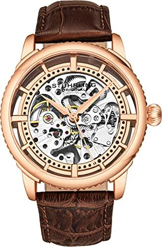 Stuhrling Originale orologio automatico da uomo, quadrante scheletro con...