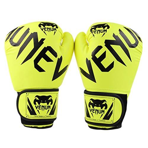 ZXJD Venom Boxhandschuhe Muay Thai Boxing Taekwondo Männer Und Frauen Fitness Training Spezial Boxhandschuhe,Gelb