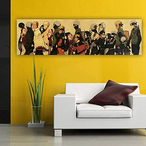 Haus Dekoration Hot Anime Naruto Action Figure Vintage Aufkleber Sasuki Kakashi Bar Schlafzimmer Dekorative Poster Aufkleber Kollektion for Kind