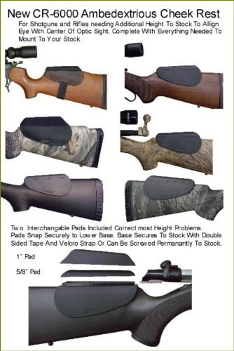 ACCU-RISER BRAND Molded Black Cheek Rest