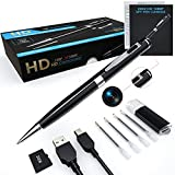 Hidden Spy Camera Pen,ehomful Full 1080P Camera Spy Pen,Mini Body Cam Hidden Security Cop Cam with Wide Angle Lens, Rechargeable Batteries with 32 GB SD Card for Home and Outdoor