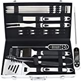 Romanticist 20pc Utensili Barbecue in Acciaio Inossidabile per...