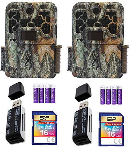 Browning Trail Cameras BTC-8A Spec Ops Advantage Full HD Video Camera with 20MP Image Resolution Bundle with 6-FT Tree Strap Mount, Silicon Power 32GB Class 10 SDHC SD Card, and Blucoil 8 AA Batteries