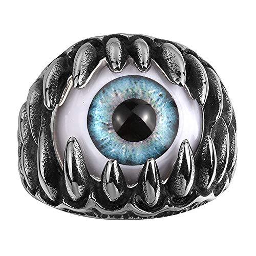 YS Anillos Personalizado Globo Ocular Exageración de Los Hombres Sortija de Multa Acero de Titanio Dedo Accesorios Aniversario Regalo de/Negro / 20.6mmNo.11