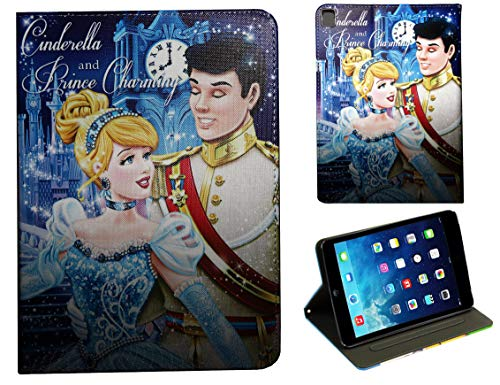 For Apple iPad Pro 9.7 / iPad Pro 9.7'' / iPad 9.7 / iPad Air 1 2 Cinderella and Prince Charming Disney Cartoon Smart Case Cover