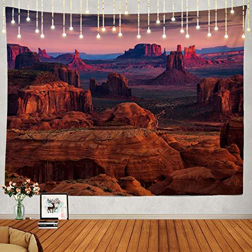 Shrahala Sunrise Tapisserie, Sunrise in Grand Canyon National Park Wandbehang, groß, psychedelische Tapisserie, Dekorationen, Schlafzimmer, Wohnzimmer, Schlafsaal (100 x 150 cm, Rot 1)