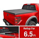MAXMATE Soft Roll Up Truck Bed Tonneau Cover for 2014-2019 Chevy Silverado/GMC Sierra 1500; 2015-2019 Silverado/Sierra 2500 HD 3500 HD | Fleetside 6.5 Bed | for Models Without Utility Track System