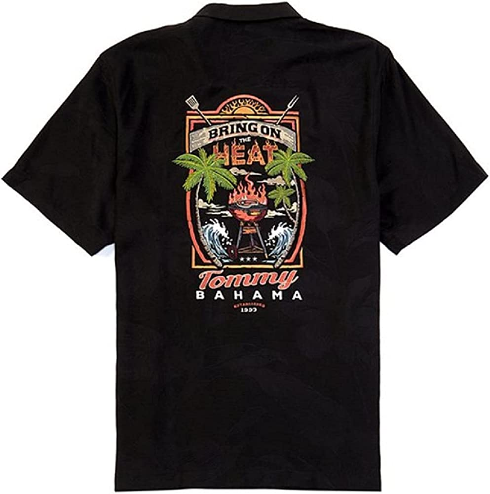 Tommy Bahama Embroidered Bring On The Heat Silk Camp Shirt