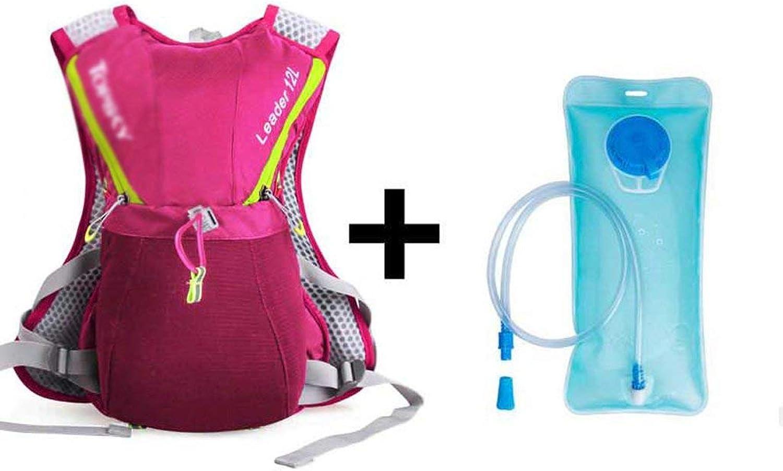 JFFFFWI es lohnt Sich, einen Outdoor-Laufrucksack zu haben Ultraleichter Reitwasserrucksack für Mnner und Frauen Marathonlauf-Umhngetasche mit reflektierendem Streifen (8 Liter, 2 Liter Wassersack