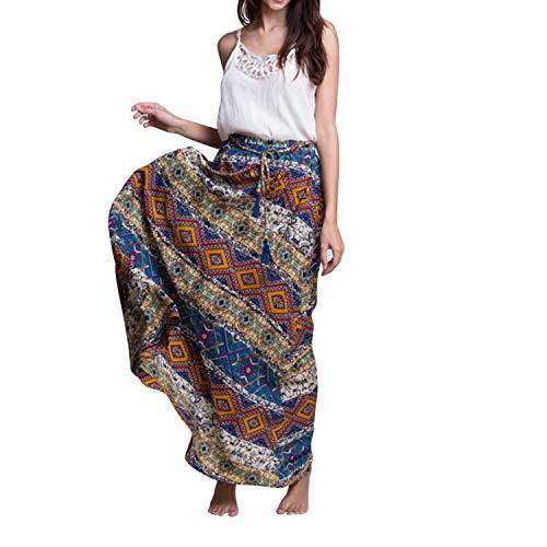 Dames lang rok strand wikkelrok boho zomer patroon set ultra modieus badpak cover up asymmetrische rok met bloemenprint