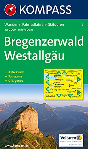 Bregenzerwald, Westallgäu: Wandern / Rad / Skitouren. Mit Panorama. GPS-geeignet. 1:50.000