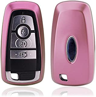 Btopars TPU Soft Pink Smart Remote Key Case Cover Fob for 2018 2019 Ford Expedition Ecosport Fiesta ST 2019 Ranger Edge ST 2017 2018 F-150 Raptor
