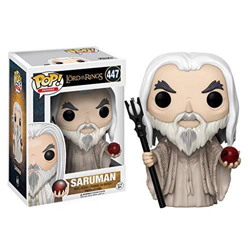 Luck7DZ Saruman: Señor de los Anillos x Pop!PVC Estilo de la película Exquisita Figura Coleccionable, Multicolor - 3.9Inch