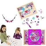 Melissa & Doug- Created by Me Heart Beads Kit de Cuentas de Madera, Multicolor (14175) , color/modelo surtido