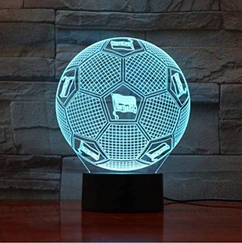 3D Bundesliga Fußballmannschaft Hertha BSC Illusion Led Nachtlicht Jungen Kinder Baby Geschenke Fußball Tischlampe