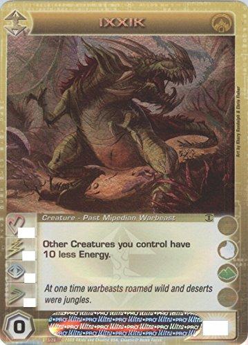 Chaotic IXXIK Super Rare FOIL Creature-Past Mipedian Warbeast Card # S15/026 (Random Stats)