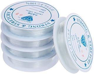 Skyus® 5 X Roll Clear Stretch Elastic Cord Thread String 0.7mm Chic