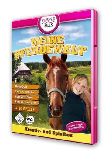 Meine Pferdewelt, CD-ROM Kreativ- und Spielbox. Gestalte dein Traumpferd! Mega-Quiz, XXL-Druckstudio, über 200 Fotos, Bildschirmschoner, 10 Spiele. Fun Windows 98SE/ME/2000/XP