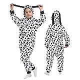 Kids Animal Dalmatians Unicorn Onesies Pajamas Cute Cosplay Dog Halloween Xmas Costume Winter Hooded Sleepwear 2-14Years