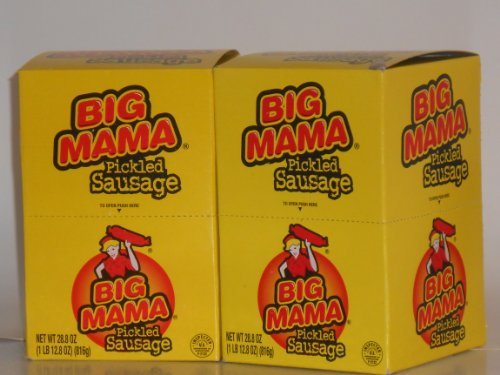 Penrose Big Mama Pickled Sausages 12 - 2.4 oz packages (Pack of 2)