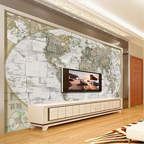 Cyalla op maat behang 3D muurschildering wereld kaart tv achtergrond muur woonkamer slaapkamer kantoor museum decoratie behang 3D 200x140cm