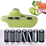 YIBOKANG Mandolin Slicer, más Reciente diseño de Vegetales, 7 en 1 Cortador de Vegetales Ajustables de mandolina, Cortador de Verduras con rallador Julienne