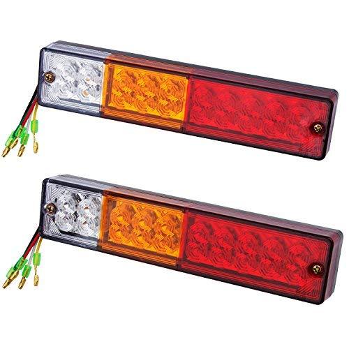 2 Feux à 20 LED pour clignotant/phare arrière étanche 12 V pour remorque, camion, caravane, camionnette, par Discoball®