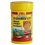 JBL Aliments de Base pour Petits Poissons d'Aquarium, Granulés, NovoGranoMix, Taille XXS, 100 mL