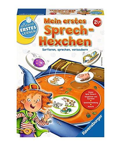 Ravensburger 24361 - Mein erstes Sprech-Hexchen - Sprachspiel für die Kleinen - Spiel für Kinder ab 2 Jahren, Spielend erstes Lernen für 1-4 Spieler