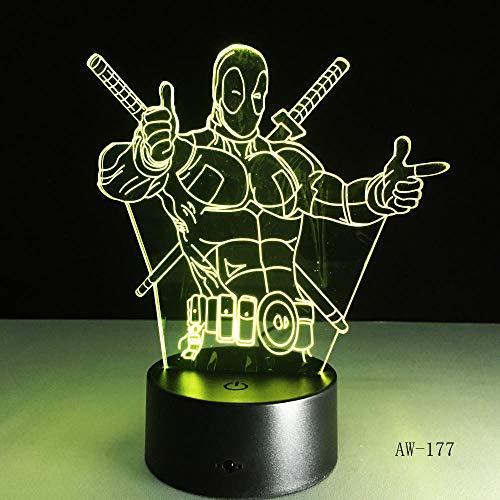 Veilleuse Enfant Dormir Lumière De Chevet 7 Changement De Couleur 3D Cool Cadeau LED Veilleuse, Teenage Mutant Ninja Turtles