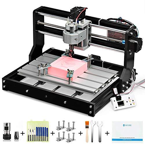 SainSmart CNC 3018-PRO Bausatz für Fräs- Graviermaschine, Grbl-basierter Controller (Candle), 3 Achsen zur Bearbeitung von Acryl, PVC, Holz, weichem Aluminium, Arbeitsbereich 300mm x 180mm x 45mm