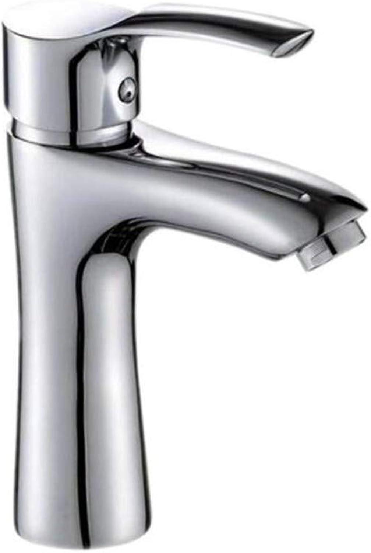 Bathroom Sink Basin Lever Mixer Tap Copper-Plated Chromium Faucet Cold-Hot Mixing Faucet Kitchen Faucet Toilet Single-Faced Basin Faucet