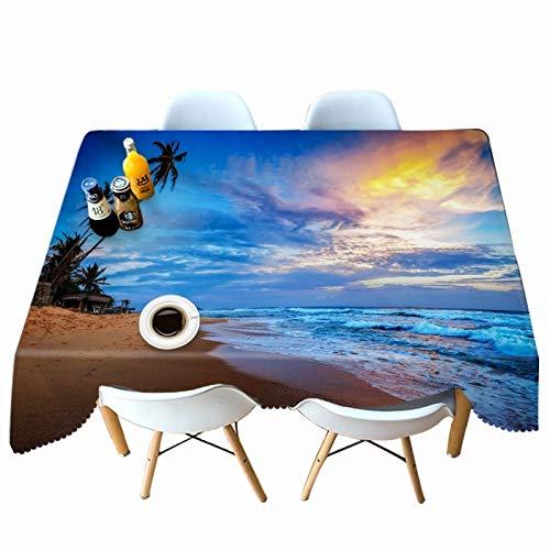 Nappe imprimée Gold Coast Nappe en Tissu imperméable Maison hôtel décoration de Mariage Nappe Variation A4