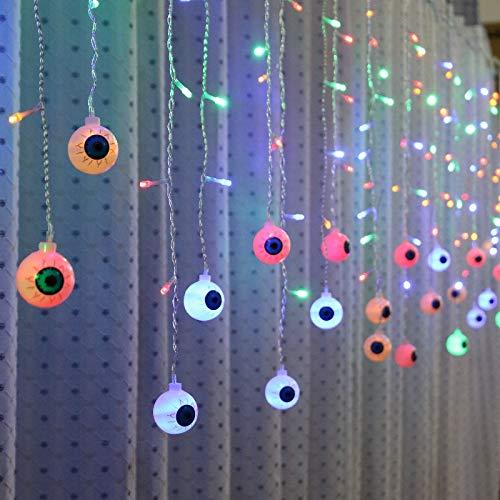 Luces de hadas de globo ocular LED de 3.5 m, luces de cadena de cortina led Decoración de fiesta interior Tira llevada, 3.5m, luces de cadena de hadas al aire libre, las cortinas son luces, color