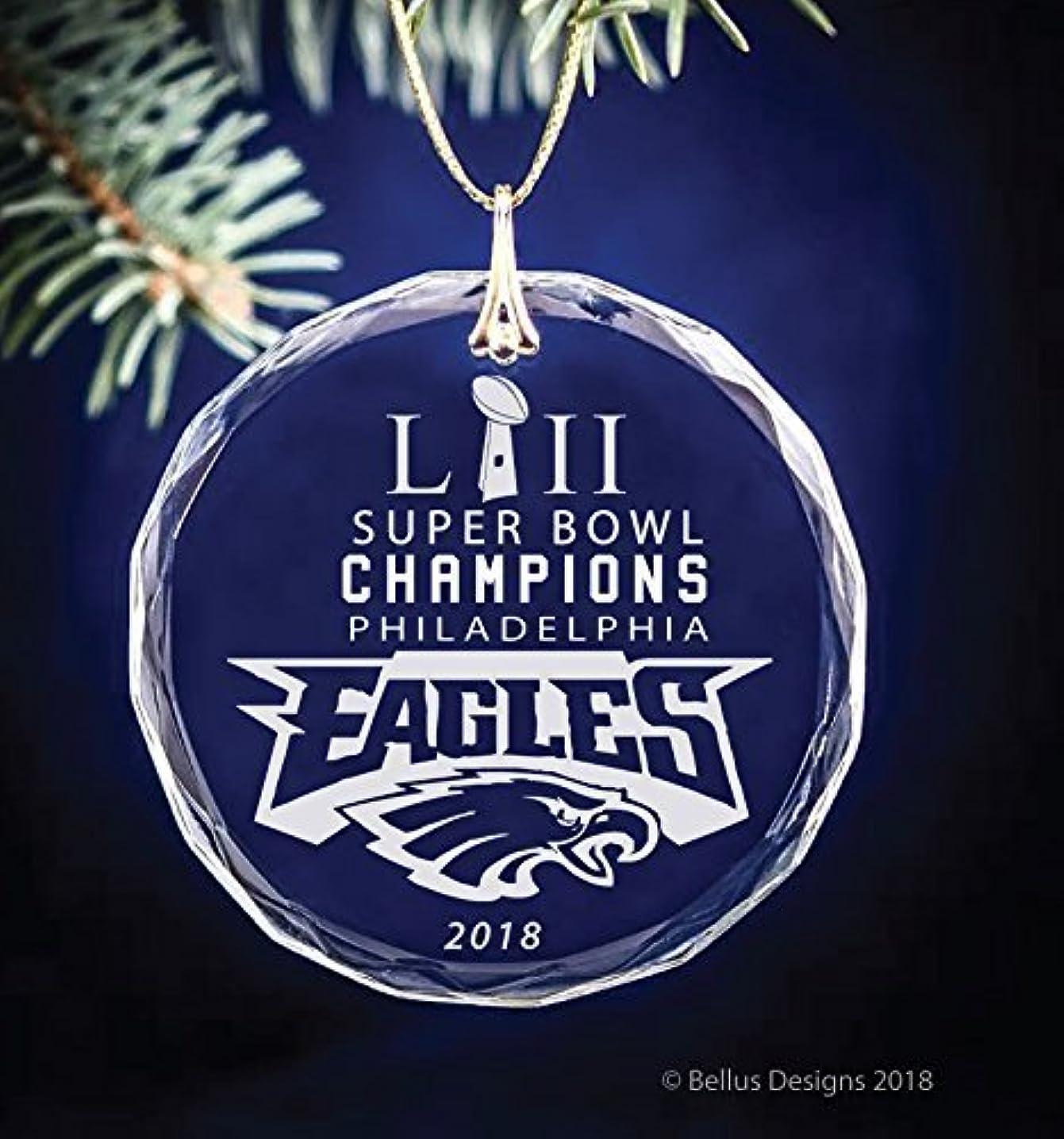 Philadelphia Eagles Super Bowl LII Champions 2018 Football Themed Keepsake Christmas Circle Ornament