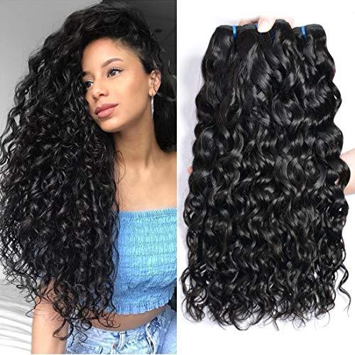 Ur Beautiful 8A Pelo Humano Rizado Cabello rizado brasileño 100% virginales extensiones de cabello natural 20 22 24 pulgadas Agua Ola Pelo,natural color (100g+/-5g)/PC Total 300g